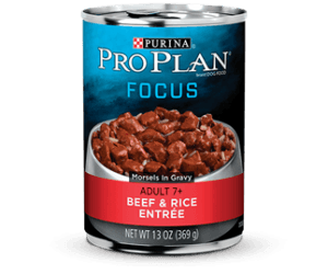 Pro Plan Beef & Rice Entreé, adulto 7+